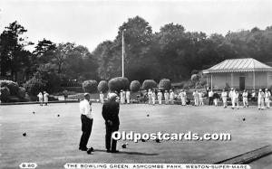 Old Vintage Lawn Bowling Postcard Post Card The Bowling Green, Ashcombe Park ...