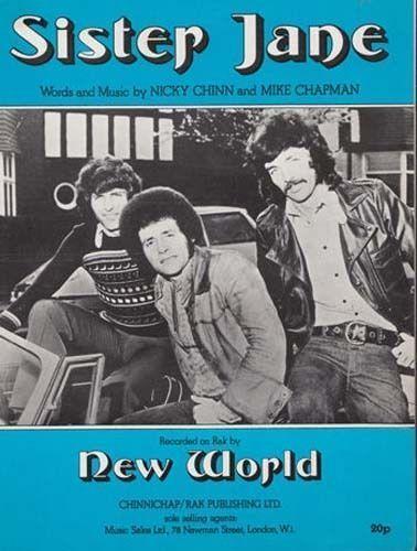 Sister Jane New World 1970s Sheet Music
