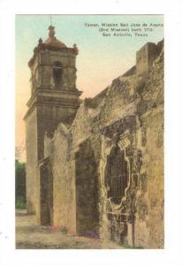 Tower, Mission San jose de acuna, San Antonio , Texas, 00-10s