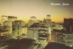 HOUSTON, Texas, 1967; Sunset In The Sixth Largest City In The Nation