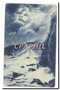 Artistic Britain Old Postcard Lighthouse Legue by storm (lighthouse)
