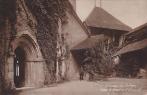 Switzerland Chateau de Chillon Cour et Escalier d'Honneur