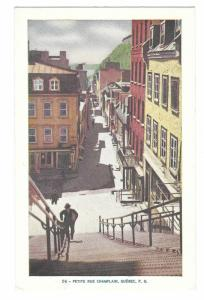 Canada Petite Rue Champlain Quebec Vintage Lorenzo Audet Postcard