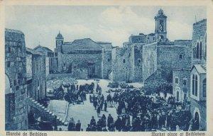 BETHLEHEM, Palestine; 1910-20s; Market Place at Bethlehem