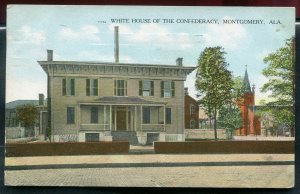 White House of the Confederacy Montgomery Alabama al postmarked 1909 postcard
