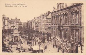 L'Hotel De Ville Et Le Perron, Place Du Marche, LIEGE, Belgium, 1910-1920s