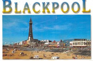 Blackpool The Beach Strand Tower General view Market