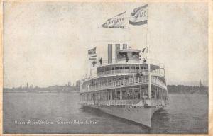 Steamer Ship Robert Fulton Hudson River Day Line Antique Postcard K32602