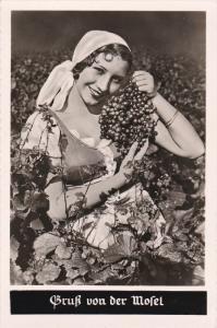 RP: Girl with Grapes , 1930s ; Gruss von der Mossel
