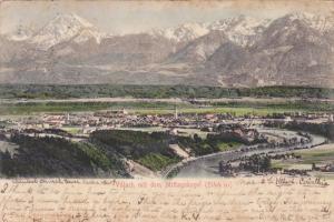 Villach mit dem Mittagskogel (2144 m) , Austria , PU-1906