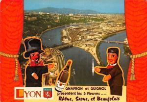France Lyon Les Trois Fleuves, Le Rhone la Saone et le Beaujolais Pont Panorama
