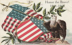 MEMORIAL DAY, PU-1908; Honor the Brave! 1861-1865, American Flags, Eagle