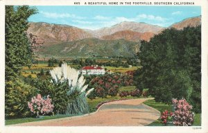 Postcard A Beautiful Home in The Foothills, Southern California ME3.