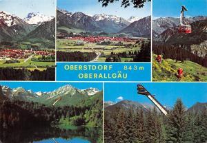 Oberstdorf Oberallgaeu, Gesamtansicht See Lake General view Cable Car