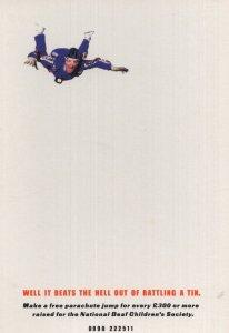 Daredevil Parachute Jump Invitation Advertising Postcard