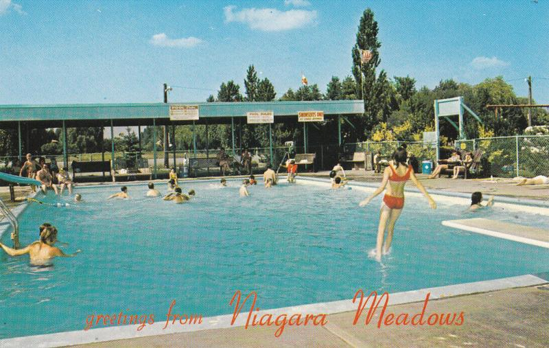 NIAGARA FALLS, Ontario, Canada, 40-60s; Niagara Meadows Limited, Swimming Pool