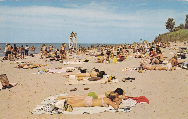 Beach Indiana Dunes State Park Chesterton 50 60s