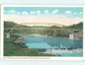 W-Border BRIDGE SCENE Clarion Pennsylvania PA H8236