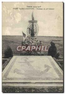 Postcard Old Army Gerbewiller The Martyr Tomb of the 36th Colonial