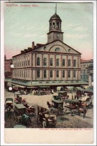 Faneuil Hall, Boston MA  (2 punch holes in card)