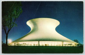 St Louis Missouri~Forest Park~McDonnell Planetarium at Night~1968 Postcard