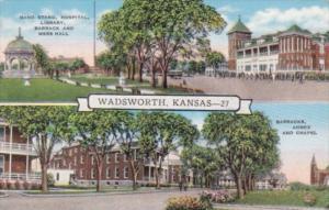 Kansas Wadsworth Band Stand Hospital Library Barrack Mess hall and Chapel