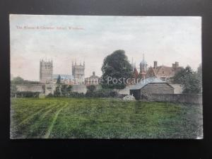 Dorset WIMBORNE The Minster & Grammar School c1905 Postcard
