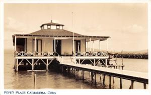 E27/ Caimanera Cuba Foreign Real Photo RPPC Postcard c30s Peppe's Place Dock
