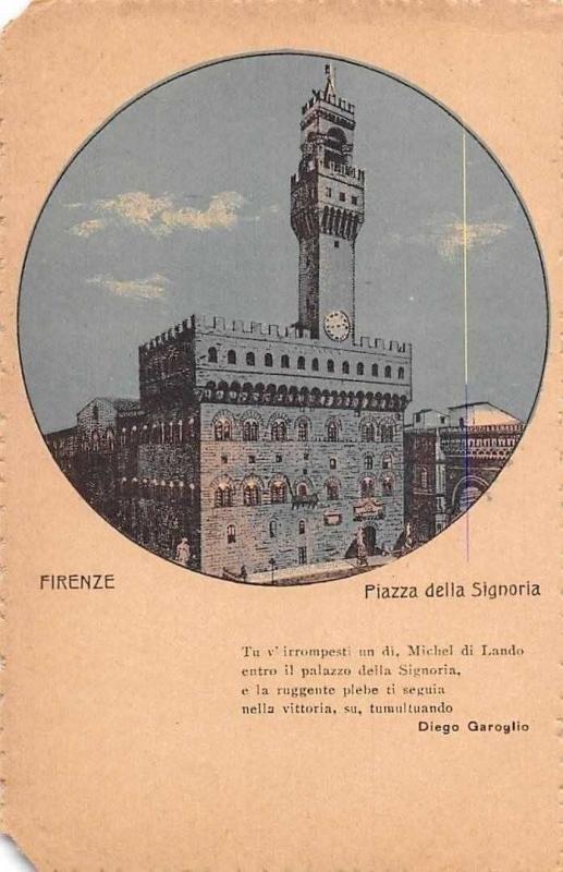 Italy Firenze Piazza della Signoria Diege Garoglio Tower