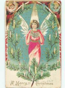 Divided-Back BEAUTIFUL ANGEL SCENE Great Postcard AB0028