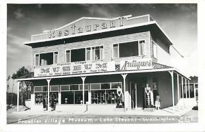 RPPC of Frontier Village Museum Lake Stevens Washington WA Kodak Paper