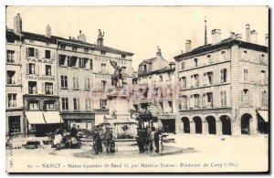 Old Postcard Nancy Satue equestrian Rene II