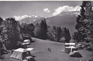 Switzerland Berne Campingplatz Bruenigpass Picknickplatz Autopark Real Photo