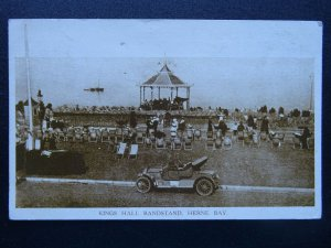 Kent HERNE BAY Kings Hall Bandstand c1919 Postcard by Woolstone Bros