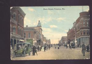 TRENTON MISSOURI DOWNTOWN MAIN STREET POOL BILLIARDS HALL VINTAGE MO. POSTCARD