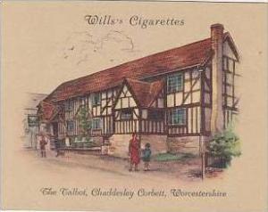 Wills Cigarette Card 2nd Series No 34 The Talbot Chaddesley Corbett Worcester...