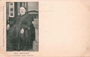 Mrs Kruger Government House Pretoria South Africa Collectors Pub Co Postcard E32
