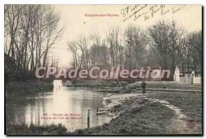 Old Postcard Nogent Sur Marne tip of the island of beauty