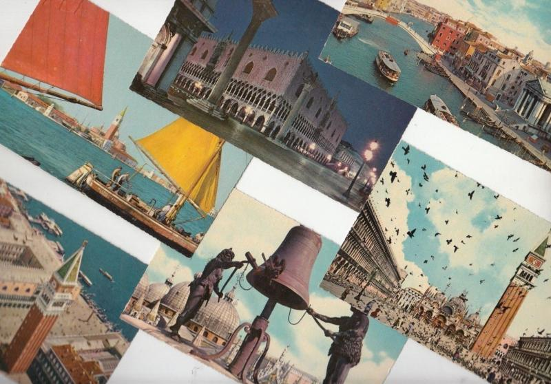 Lot 6 postcards all Venice Italy