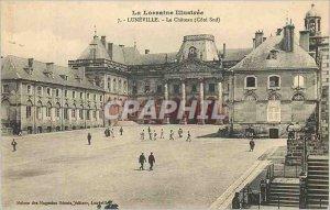 Old Postcard Luneville Lorraine Illustree Le Chateau (South Coast)