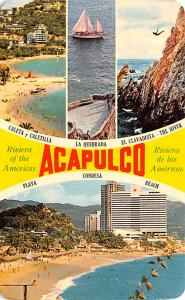 Mexico Old Vintage Antique Post Card Beach, La Quebrada Acapulco 1972