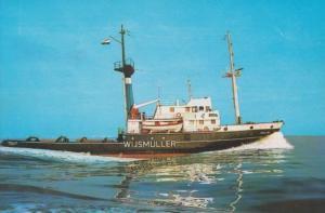 MS Friesland German Tug Boat Steamer Steam Ship Rare Postcard