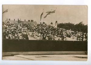 236260 RUSSIA rich society at stadium Vintage photo postcard