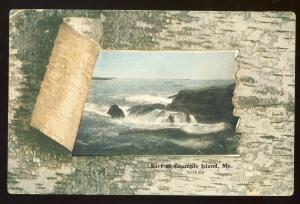 Crumple Island, Maine/ME Postcard, View Of Surf & Rocks, 1909!