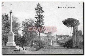 Old Postcard Roma S Sebastiano