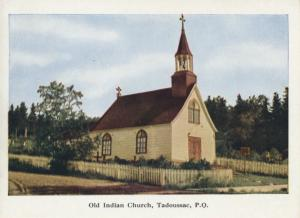 Old Indian Church Tadoussac PQ Quebec QC Canada Steamship Lines Postcard D20