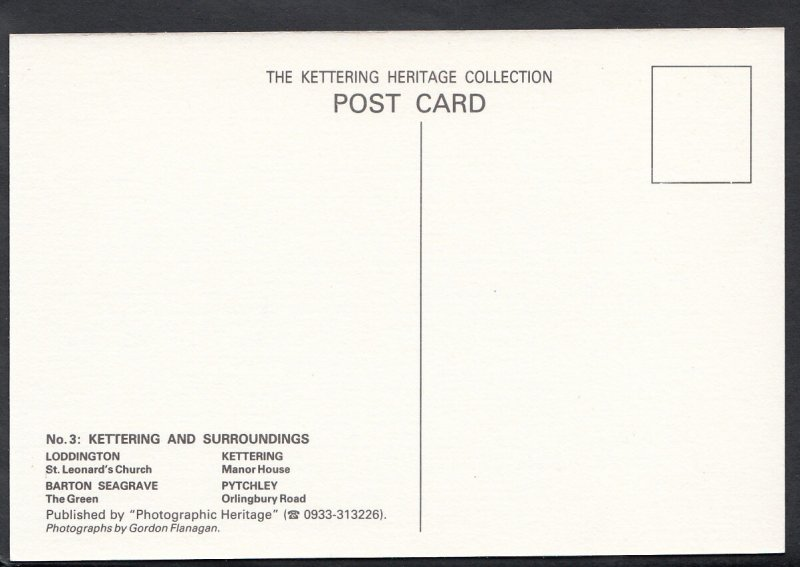 Northamptonshire Postcard - Views of Kettering and Surroundings  BH6227