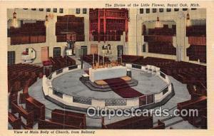 Churches Vintage Postcard Royal Oak, Mich, USA Vintage Postcard Shrine of the...