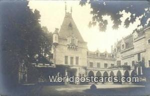 Chateau De Peyrieu, France, Carte, Postcard Real Photo - Cour d'Honneur Chate...