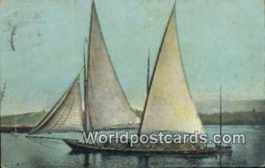 Barque sur le lac Lemal Geneve Swizerland Postal Used Unknown, Missing Stamp